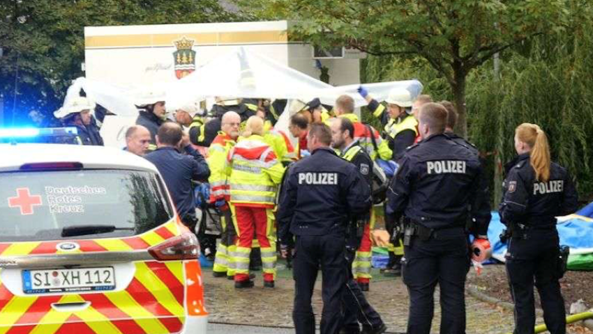 Foto: Germania: 14 oameni au fost răniți grav după explozia unei tigăi la un târg culinar
