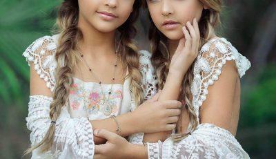 Cum arată cele mai frumoase gemene din lume? La doar 9 ani, au devenit modele!