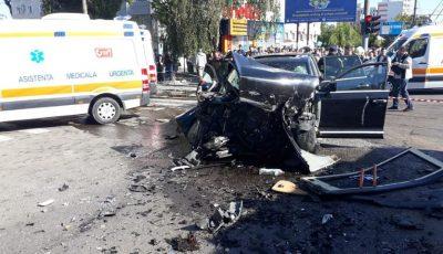 Poliția oferă detalii despre accidentul de la Buiucani: viteza excesivă și traversarea intersecției la culoarea interzisă a semaforului