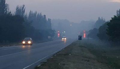 Orașul Bălți este acoperit de fum, din cauza unei gunoiști