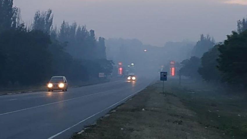 Foto: Orașul Bălți este acoperit de fum, din cauza unei gunoiști