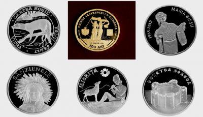 BNM a pus în vânzare noi monede jubiliare și comemorative. Vezi ce simbolizează și care este prețul acestora!