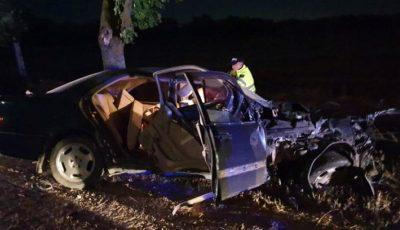 Un Mercedes cu 5 pasageri, distrus complet la Criuleni. Șoferul era în stare de ebrietate