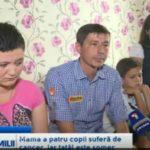 Foto: Drama unei familii din Floreşti. Mama a patru copii suferă de cancer, iar tatăl este şomer