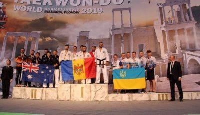 Medalia de aur pentru Moldova, la Campionatul Mondial de Taekwon-Do