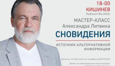 Aleksandr Litvin revine la Chișinău. Expertul își dă întâlnire cu publicul, pe 4 și 6 octombrie!