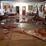 Foto: O biserică din Soroca, inundată în urma ploilor abundente. Foto