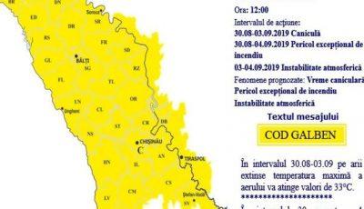 Meteorologii moldoveni au emis cod galben de furtuni și grindină. Când vine vijelia?