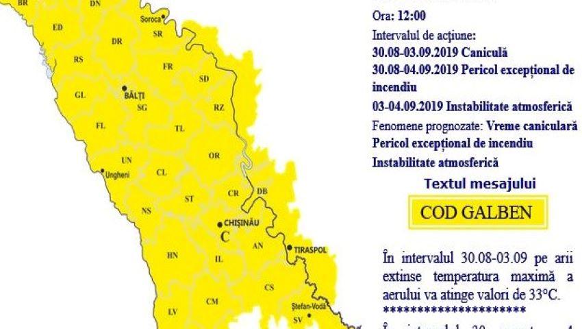 Foto: Meteorologii moldoveni au emis cod galben de furtuni și grindină. Când vine vijelia?