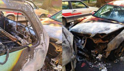 Două mașini au ars noaptea trecută, în sectorul Ciocana