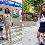 Foto: Tatiana și Anatol Melnic au o mică școlăriță! Kamelia a mers în clasa I