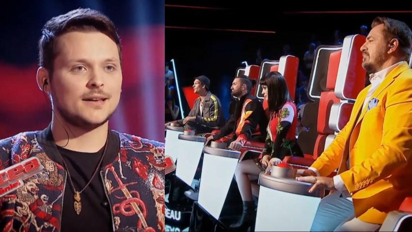 """Foto: Un concurent care a întors patru scaune la """"Vocea României"""", a ales să intre în echipa Irinei Rimes. Video!"""