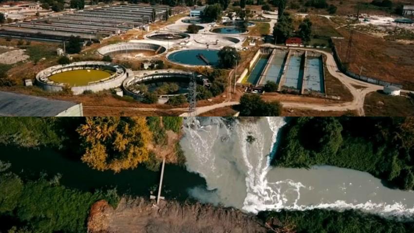 Foto: Noi imagini video: De la înălțime se vede cum mizeria se varsă în râul Bîc