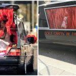 Foto: Ksenia Sobchak a ajuns la Starea Civilă cu mașina… de la servicii funerare! Foto