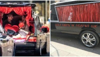 Ksenia Sobchak a ajuns la Starea Civilă cu mașina… de la servicii funerare! Foto