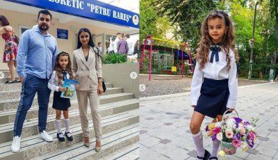 Tatiana și Anatol Melnic au o mică școlăriță! Kamelia a mers în clasa I