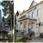 Foto: Ce frumusețe! În satul Corjeuți poți admira o replică a Turnului Eiffel din Paris
