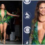 "Foto: Jennifer Lopez a făcut senzație la Milano, cu legendara ,,rochie cu palmieri""! Foto"