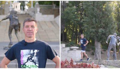 Noul Ambasador al Marii Britanii în Moldova face sport în parcul Valea Morilor. Video!