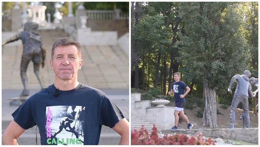 Foto: Noul Ambasador al Marii Britanii în Moldova face sport în parcul Valea Morilor. Video!