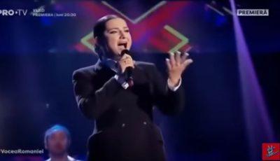 "Dana Markitan, pe scena de la ""Vocea României""! Moldoveanca a interpretat piesa ,,Arlecchino"" a Allei Pugachiova"