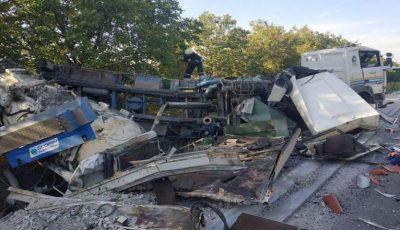 Accident de groază în raionul Fălești. Foto