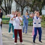 Foto: Studenții de la medicină organizează un flashmob în centrul Capitalei