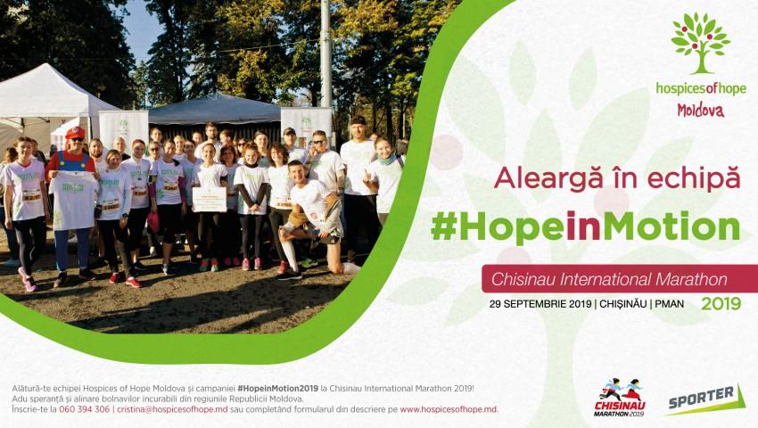 Foto: Participă la Chişinău International Marathon 2019 și susține cauza Hospices of Hope Moldova în lupta cu bolile incurabile!