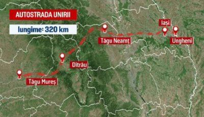 Când încep lucrările de construcție la autostrada Târgu Mureş-Iaşi-Ungheni?