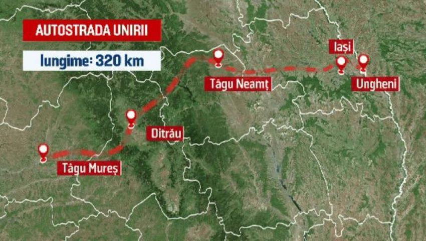Foto: Când încep lucrările de construcție la autostrada Târgu Mureş-Iaşi-Ungheni?