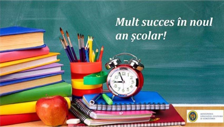 Foto: Mesajul Ministerului Educației cu ocazia începutului unui nou an școlar