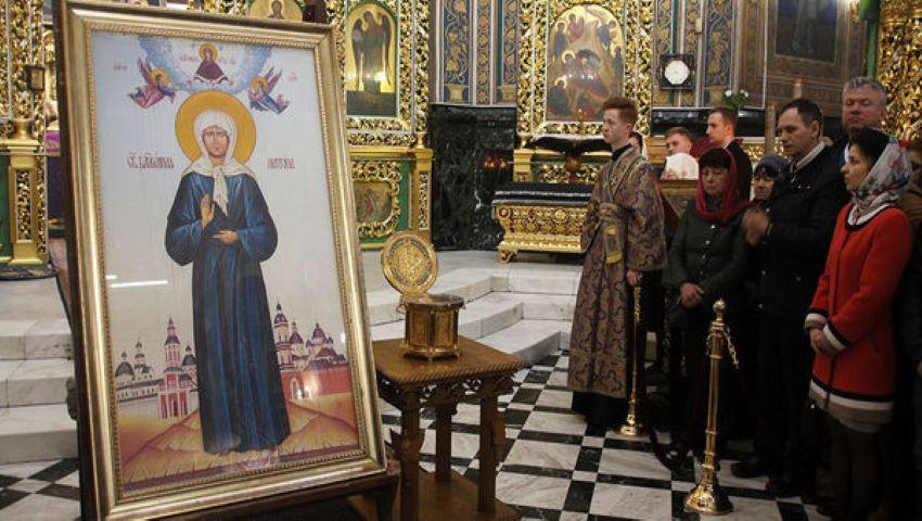 Foto: Icoana Sfânta Fericită Matrona din Moscova a fost adusă la Chișinău