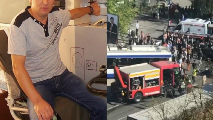 Foto: Demn de apreciat. Șoferul troleibuzului implicat în accidentul de la Buiucani a reușit să evite o mare tragedie