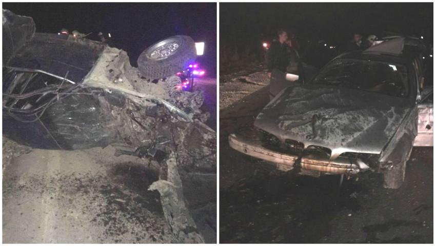 Foto: Accident îngrozitor pe traseul Chișinău-Ungheni: un mort și 7 răniți