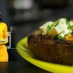 Foto: Încearcă și tu rețeta Iulianei Chiroșca! Cartofi dulci cu pătrunjel și telemea