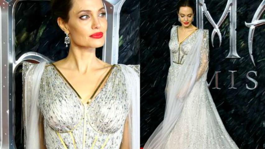 Foto: Angelina Jolie a pășit ca o zeiță pe covorul roșu, la Londra!
