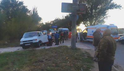 Accident grav în Chișinău: sunt opt răniți