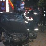 Foto: Accident la Bălți: un Lexus în care se aflau patru tineri, a fost făcut zob