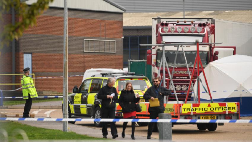 Foto: Cutremurător. 39 de cadavre au fost descoperite într-un camion pe teritoriul Marii Britanii. Victimele erau cetățeni chinezi