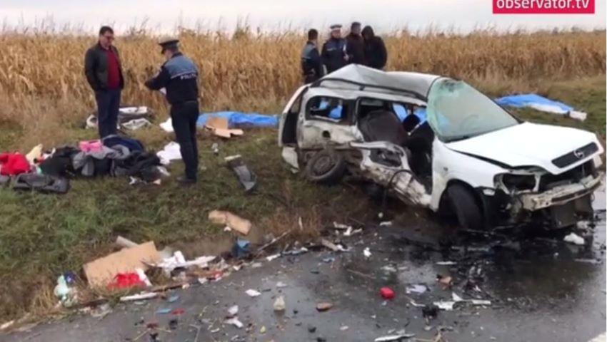 Foto: O moldoveancă de 22 de ani a murit într-un grav accident în România. Viitorii ei socri și fiul acestora au decedat și ei