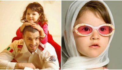 Emoționant! Cleopatra Stratan a reconstituit o poză din copilărie alături de tatăl său