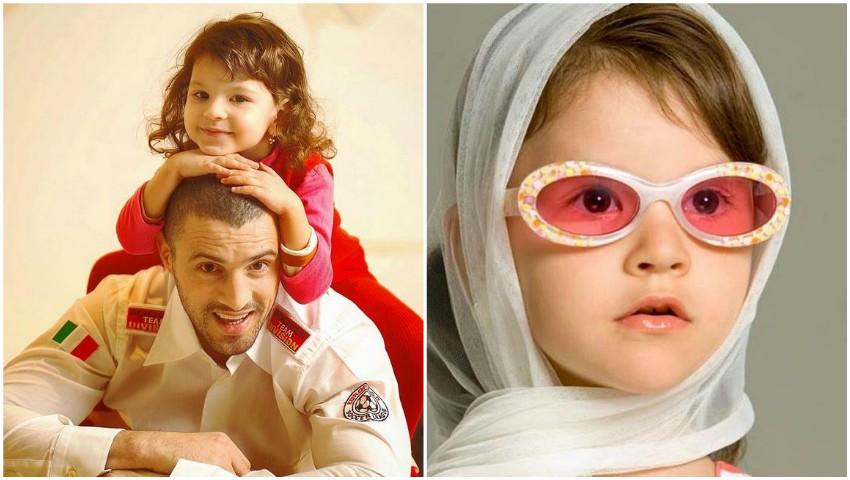 Foto: Emoționant! Cleopatra Stratan a reconstituit o poză din copilărie alături de tatăl său