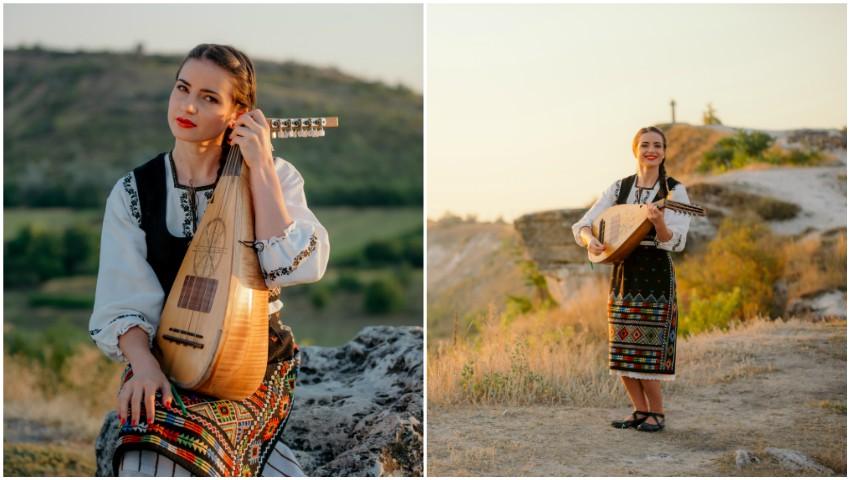 """Foto: ,,De-ar fi badea-n deal la cruce"""". Stela Botez, fata cu cobza, ne surprinde cu o nouă producție muzicală"""