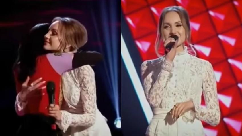 """Video! Kătălina Rusu a făcut senzație la ,,Vocea României"""", în ținuta în care a fost mireasă!"""