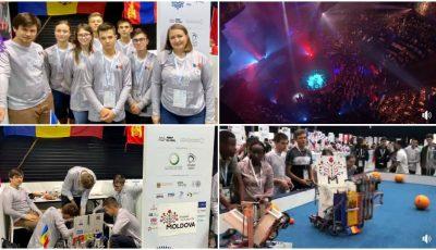 Tinerii moldoveni au obținut prima medalie de AUR, printre 189 de țări, la Campionatul Mondial de Robotică din Dubai!