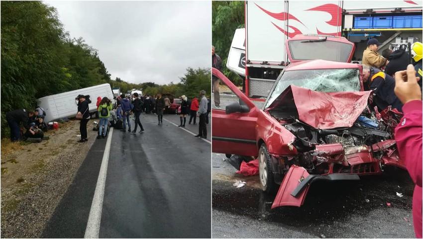 Foto: Imagini noi de la accidentul de lângă Ialoveni: cel puțin 21 de persoane au fost rănite