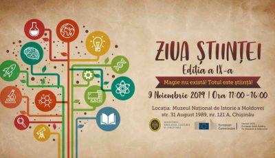 Cea de-a IX-a ediție a Zilei Științei va fi marcată la Muzeul Național de Istorie