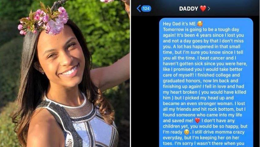 Foto: O tânără i-a trimis mesaje tatălui ei decedat, timp de 4 ani. Iar într-o zi a primit răspuns…