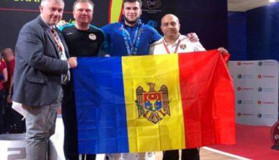 Sportivul moldovean Tudor Ciobanu a devenit campion european la haltere