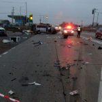 Foto: O mașină cu moldoveni, implicată într-un cumplit accident în Ucraina: o femeie de 47 de ani a murit pe loc